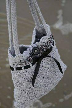 Crochet Purse Pattern Top 10 Gorgeous Crochet Patterns For Handbags Top Inspired Crochet Purse Pattern 8 Creative Crochet Bag Patterns. Crochet Purse Pattern Crochet Bag Pattern In Pdf The Size Of The Bag The Bottom Crochet P. Bag Crochet, Crochet Handbags, Crochet Purses, Crochet Crafts, Yarn Crafts, Crochet Projects, Free Crochet, Beaded Crochet, Grey Purses