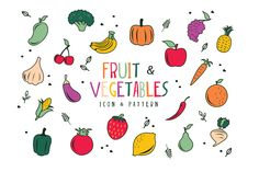 Fruit & Vegetables Seamless Pattern by voila on Creative Market