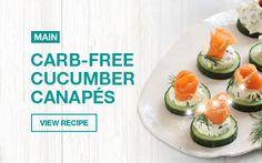 Carb-free Cucumber Canapés