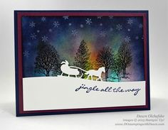 Northern Lights Stamping Technique & Sleigh Ride Edgelits