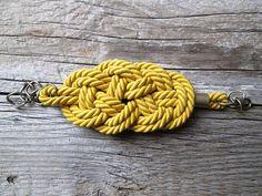 Senape gialla bracciale corda bracciale corda nodo di NasuKka