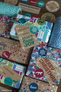 Rustic Holiday Labels and Tags to Print