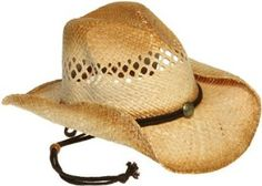 JEANNE SIMMONS Cut Out Western Hat W/ Drawstring (Brown Wash) JEANNE SIMMONS. $15.00