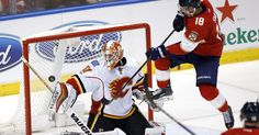 Panthers struggled to Chad Johnson in lost of Flames #Sport #iNewsPhoto