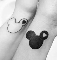 Imagine tattoo, mickey, and mickey mouse