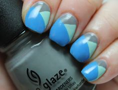 The Collegiate Nail: Twinsie Tuesday: Color Block Mani