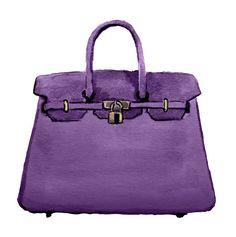Hermes Birkin Handbag Watercolor Fashion by LadyGatsbyLuxePaper, $10.00