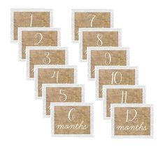 Baby Monthly Signs  Burlap & Lace  Set of 12  by allforeHim, $15.00