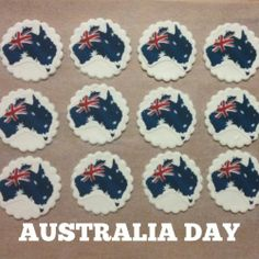 Australia day on edible paper for cupcakes 20 x by for Australia day decoration