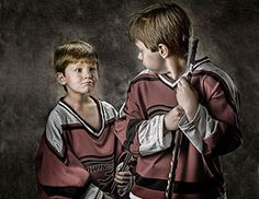 Children's Photography - We captured the unique personality and character of these hockey players. Their one of a kind expressions are timeless.
