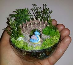 Custom order of a Lapras on a stream in the forest  Pokemon habitat ball  More miniature artificial terrarium Pokemon habitat balls can be seen and ordered on my Facebook page  https://m.facebook.com/sparklesandstring/
