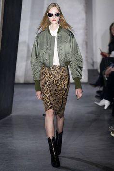 #autumn_winter #2015 #Ready_To_Wear #NewYork #31_Phillip_Lim #Leather #Print #Skirt #AviatorJumper #Blouson #FlightJumper