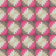 Buzz saw patchwork quilt design