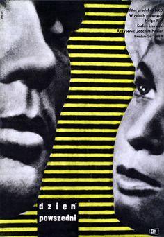 Vintage movie poster 1961 by Maurycy T. Stryjecki: Dzien powszedni