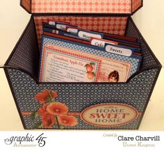 Home Sweet Home Recipe Box by Clare Charvill - Graphic 45