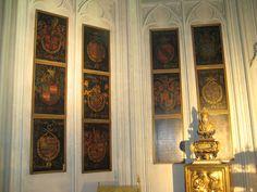 Golden Fleece Order stallplates, Sint-Rumoldus Kerk Mechelen, by Pierre Coustain, 1491.