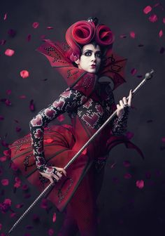 Dean Alexander - Fashion Photography - Disney Villains - Queen of hearts concept ideas