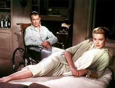 Rear Window (1954)  Director: Alfred Hitchcock  A simple technical exercise — making a whole film in one room — is given ballsy bravura by Hitchcock as a terrific James Stewart witnesses a murder through his, um, rear window.