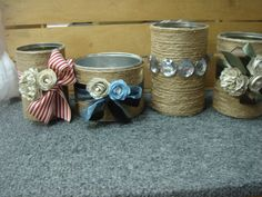 my recycled tin cans