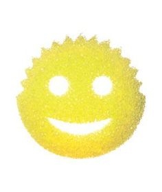 Scrub Daddy Cleaning Sponge: This fella stiffens in cold water, for added scour power. His ridged hairdo makes quick, 360-degree work of mugs and glasses. Use the eyes and mouth as finger holes, for a good grip.