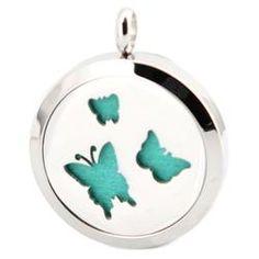 Butterflies Stainess Steel Diffuser Locket
