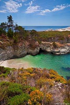 If shopping isn't your thing, do some hiking at Point Lobos State Reserve and take in breathtaking sights like China Cove, shown here Carmel California, California Dreamin', Monterey California, Pacific Coast Highway, Big Sur, Santa Monica, Point Lobos State Reserve, Places To Travel, Places To See