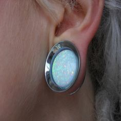 anatometals white opal floating stone eyelet. *dream plugs* I don't have gauged ears, but I absolutely love these. :)