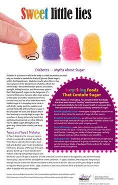 #Diabetes - Myths about Sugar....surprising foods that contain sugar.