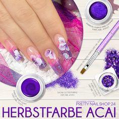 """#autumn   #acai   #nails   #color   Mit der etwas anderen Herbstfarbe zieht ihr garantiert alle Blicke auf Euch. Das dunkle Violett """"Acai"""" lässt sich super kombinieren – auch auf den Nägeln. Lasst Euch inspirieren, Eure Juliane."""