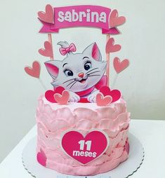 Bolo da gatinha Marie: 55 ideias para se inspirar e passo a passo Baby Cakes, Girl Cakes, Sweet Cakes, Aristocats Party, Marie Aristocats, Tom And Jerry Pictures, Marie Cat, Cat Birthday, Cat Party