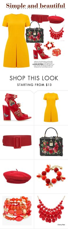 """Simple and beautiful"" by endrya-furtado ❤ liked on Polyvore featuring Laurence Dacade, Warehouse, Dolce&Gabbana, Brixton, Monet, Chico's and Alexa Starr"