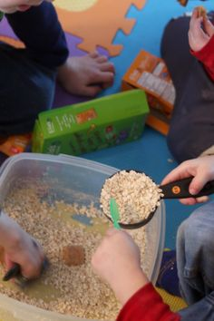 An indoor sandbox is an easy setup for kids to play for the day