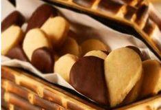 Biscoitos amanteigados com chocolate