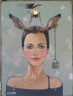 Rabbit Ears, Princess Zelda, Canvas, Gifts, Fictional Characters, Art Decor, Image, Key, Painting