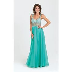 Madison James 16399 Prom Long Dress Long  Sleeveless ($378) ❤ liked on Polyvore featuring dresses, gowns, formal dresses, green, prom dresses, green gown, green prom dresses and long dresses
