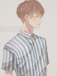 anime, snile, and boy image Manga Boy, Manga Anime, Fanarts Anime, Anime Characters, Anime Art, Boy Character, Character Concept, Character Design, Handsome Anime Guys
