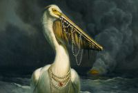 The Spoils - Martin Wittfooth - makes me smile. pirate pelican or princes pelican Martin Wittfooth, Various Artists, Natural World, Writing Prompts, Rey, Artsy Fartsy, Painting & Drawing, Make Me Smile, Playground