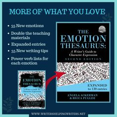 The Emotion Thesaurus (Second Edition) is Here! Blog Writing, Writing Tips, Verbs List, Writing Conferences, Letter To Yourself, Body Language, Short Stories, New Books, Writer