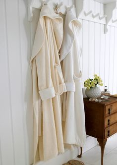 Seems nice to leave a fluffy clean robe ready for your guests.