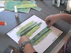 How to revitalize old patterned papers (or make papers match each other) using spray inks. Video tutorial by Sanna Lippert.