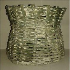 vaso de planta feito de jornal