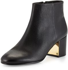 Tory Burch Cleveland Leather Ankle Boot, Black