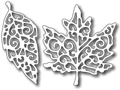 Frantic Stamper Precision Dies - Fancy Leaves