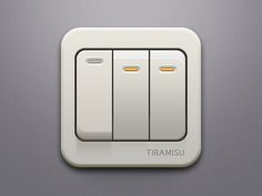I could see this icon being used for a flashlight app. I like how two of the switches are turned on and the other switch isn't. The shading is well done. It's hard to show a single color look realistic since there is nothing else to go off on. I also like the shading underneath of the light that's turn off.