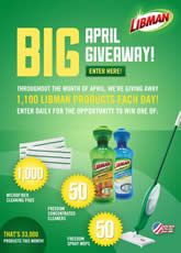 """The Libman """"April Giveaway"""" Sweepstakes (33,000 Winners!) on http://www.icravefreebies.com/"""