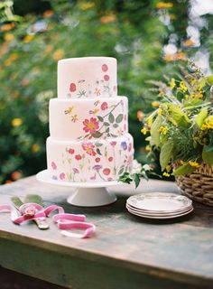 Southern Weddings In Full Bloom - Southern Weddings Magazine Fall Wedding Cakes, Wedding Cake Designs, Cupcakes, Cupcake Cakes, Pretty Cakes, Beautiful Cakes, Amazing Cakes, Naked Cakes, Painted Cakes