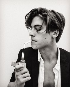"""Cole Sprouse """"Support the local upstart cigarette companies and smoke! Your…"""