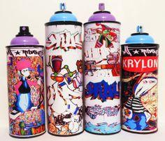 Unique Graffiti Spray Can Art Collection $125