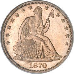 1870-CC Seated Liberty Dollar