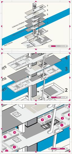 exploded axonometric - Flash interactivity